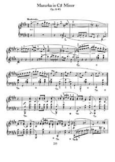 Мазурки, Op.50: No.3 in C Sharp Minor by Фредерик Шопен
