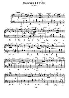 Мазурки, Op.59: No.3 in F Sharp Minor by Фредерик Шопен