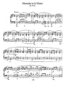 Мазурки, Op.50: No.1 in G Major by Фредерик Шопен