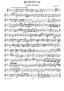 Струнный квартет No.30 ми-бемоль мажор 'The Joke', Hob.III/38 Op.33 No.2: Партия второй скрипки by Йозеф Гайдн