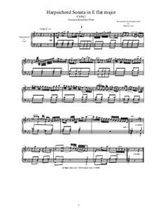 Harpsichord (or Piano) Sonata in E flat major: Harpsichord (or Piano) Sonata in E flat major, CSPla2 by Джованни Бенедетто Платти