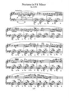 Ноктюрны, Op.48: No.2 in F Sharp Minor by Фредерик Шопен
