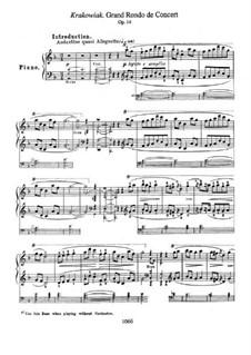 Rondo à la Krakowiak, Op.14: Для фортепиано by Фредерик Шопен