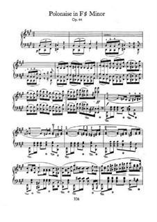 Полонез фа-диез минор, Op.44: Для фортепиано by Фредерик Шопен