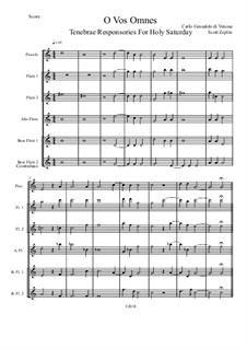 O Vos Omnes: For flutes by Карло Джезуальдо