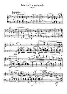 Рондо ми-бемоль мажор, Op.16: Для фортепиано by Фредерик Шопен