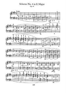 Скерцо No.4 ми мажор, Op.54: Для фортепиано by Фредерик Шопен