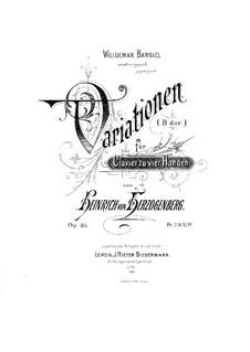 Вариации си-бемоль мажор для фортепиано в четыре руки, Op.85: Вариации си-бемоль мажор для фортепиано в четыре руки by Генрих фон Герцогенберг