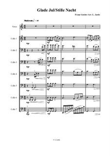 Тихая ночь (ноты для скачивания): For voice and cellos by Франц Ксавьер Грубер