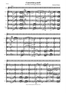 Concertino g-moll, version for Oboe and String orchestra: Concertino g-moll, version for Oboe and String orchestra by Бернхард Молик