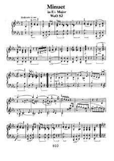 Менуэт ми-бемоль мажор, WoO 82: Для фортепиано by Людвиг ван Бетховен