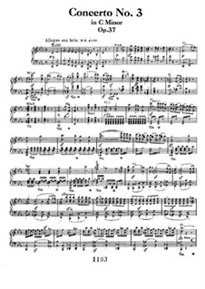 Концерт для фортепиано с оркестром No.3, Op.37: Версия для двух фортепиано в 4 руки by Людвиг ван Бетховен