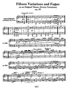 Пятнадцать вариаций и фуга на оригинальную тему (Героические вариации), Op.35: Для фортепиано by Людвиг ван Бетховен
