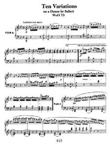 Десять вариаций на тему 'La stessa, la stessissima' из оперы 'Фальстаф' Сальери, WoO 73: Для фортепиано by Людвиг ван Бетховен