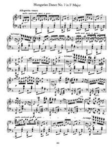 Танец No.7 фа мажор: Для фортепиано by Иоганнес Брамс