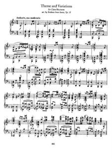 Струнный секстет No.1 си-бемоль мажор, Op.18: Часть II. Версия для фортепиано by Иоганнес Брамс