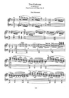 Каденции к Концерту для фортепиано с оркестром No.4 соль мажор Бетховена: Для одного исполнителя by Иоганнес Брамс