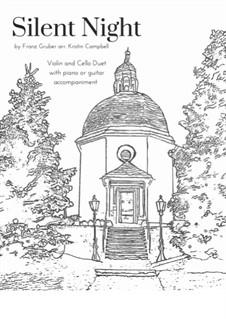 Тихая ночь (ноты для скачивания): For violin, cello and piano by Франц Ксавьер Грубер