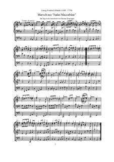 Иуда Маккавей, HWV 63: Marsch (erleichterte Orgel-Transkription) by Георг Фридрих Гендель