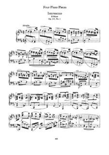 Четыре пьесы, Op.119: Сборник by Иоганнес Брамс