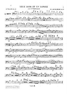 Два дуэта и каприччио для двух виолончелей, Op.33: Партия I виолончели by Фридрих Август Куммер