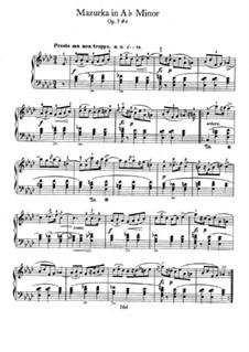 Мазурки, Op.7: No.4 in A Flat Major by Фредерик Шопен