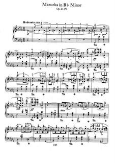 Мазурки, Op.24: No.4 in B Flat Minor by Фредерик Шопен