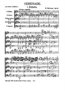 Серенада для духовых инструментов, Op.20: Партитура by Анри Марто