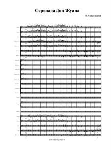 Шесть романсов, TH 101 Op.38: No.1 Серенада Дон-Жуана (партитура) by Петр Чайковский