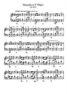 Мазурки, Op. posth.68: No.3 in F Major by Фредерик Шопен