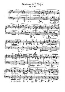 Ноктюрны, Op.62: No.1 in B Major by Фредерик Шопен