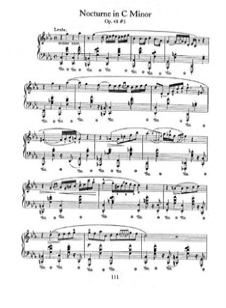 Ноктюрны, Op.48: No.1 in C Minor by Фредерик Шопен