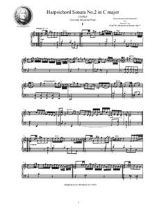 Harpsichord (or Piano) Sonatas, Op.1: Sonata No.2 in C major, CSPla5 by Джованни Бенедетто Платти