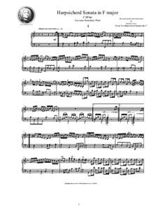 Harpsichord (or Piano) Sonatas, Op.1: Sonata No.3 in F major, CSPla6 by Джованни Бенедетто Платти