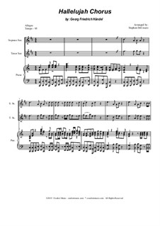 No.44 Аллилуйя: Duet for soprano and tenor saxophone by Георг Фридрих Гендель