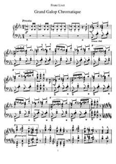 Большой хроматический галоп, S.219: Для фортепиано by Франц Лист