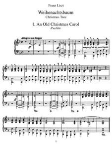 Рождественская ёлка, S.185a: Для фортепиано by Франц Лист