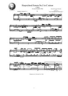 Harpsichord (or Piano) Sonatas, Op.1: Sonata No.5 in C minor, CSPla8 by Джованни Бенедетто Платти