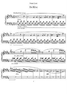 En rêve (Dreaming), S.207: Для фортепиано by Франц Лист