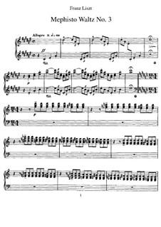 Вальс No.3 ре-диез минор, S.216: Для фортепиано by Франц Лист