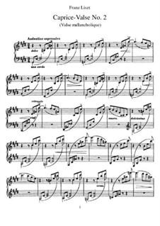 Три вальса-каприса, S.214: No.2 Valse mélancolique by Франц Лист