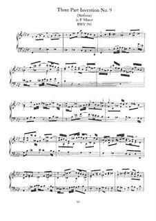 No.9 фа минор, BWV 795: Для фортепиано by Иоганн Себастьян Бах