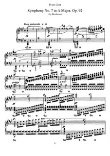 Вся симфония: Version for piano by F. Liszt by Людвиг ван Бетховен