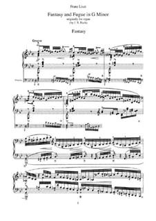 Фантазия и фуга No.12 соль минор (Большая), BWV 542: Аранжировка для фортепиано, S.463 by Иоганн Себастьян Бах