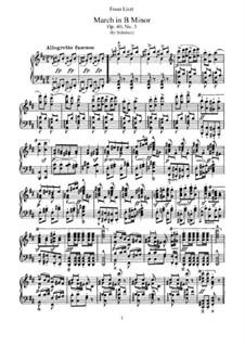 Транскрипции на темы маршей Шуберта, S.426: No.2 March in B Minor by Франц Лист