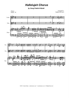 No.44 Аллилуйя: Duet for violin and viola by Георг Фридрих Гендель