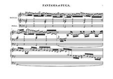 Фантазия и фуга No.12 соль минор (Большая), BWV 542: Для органа by Иоганн Себастьян Бах