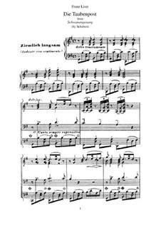 No.14 Голубиная почта: Для фортепиано, S.560 No.13 by Франц Шуберт
