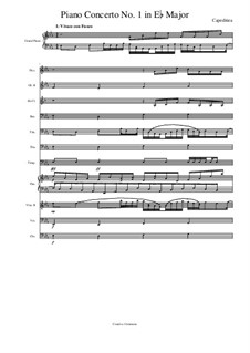 Piano Concerto No.1 in Eb Major, Op.19: Piano Concerto No.1 in Eb Major by E.S. Capeditiea