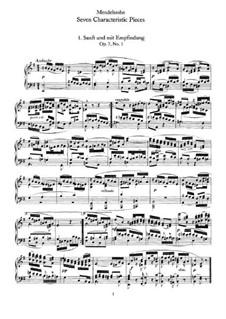 Семь характерных пьес, Op.7: Сборник by Феликс Мендельсон-Бартольди